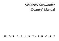 Mordaunt-Short MS909W User Manual