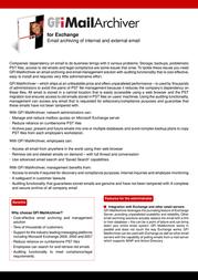 GFI MailArchiver, 50 mailbox MAR50 User Manual
