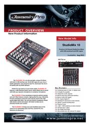 Jammin Pro StudioMix 10 5480015 Leaflet