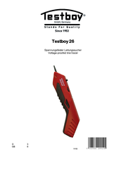 Testboy Testboy® 26 Test leads measurement device, Cable and lead finder, Testboy® 26 User Manual