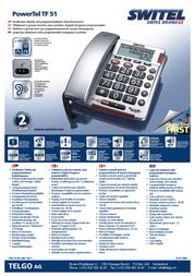 SWITEL PowerTel TF 51 POWERTEL TF 51 Leaflet