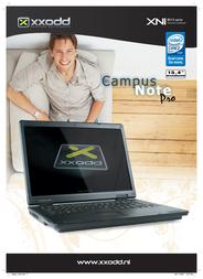"""XXODD 15.4"""" TFT/ DVDRW/ 160GB/ 2GB DDR2/ Intel Pentium Dual-Core T2370 XNI8515 T2370 AANBIEDING Leaflet"""