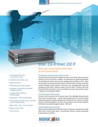 Minicom Advanced Systems Smart 216 IP 0SU70036A Leaflet