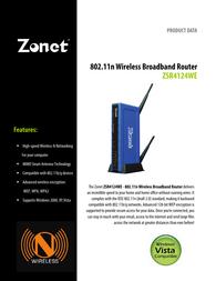 Zonet ZSR4124WE Leaflet