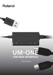 Roland UM-ONE-MK2 USB MIDI-INTERFACE 411032E99 Data Sheet