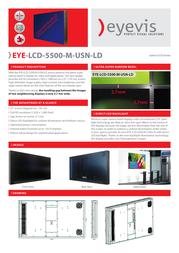 eyevis EYE-LCD-5500-M-USN-LD Leaflet