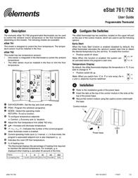 Elemental Designs eStat 762 User Manual