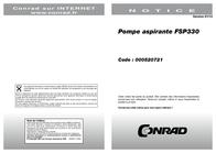 Zehnder Pumpen Wet intake submersible pump 13187 5500 l/h 7 m 13187 User Manual