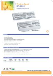 KME Turbo-Spot KB-2201 Silver/Black KLA021213 Leaflet