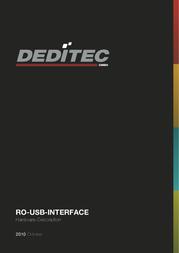 Deditec RO-USB MODUL 64 RELAIS OUT RO-USB-R64 Data Sheet