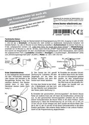 Kemo Drink Reminder FG019 Leaflet