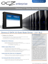 OCZ Storage Solutions Deneva 2 C SLC D2CSTK251S14-0060 Leaflet