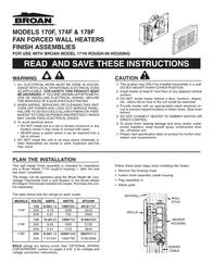Broan 170F User Manual