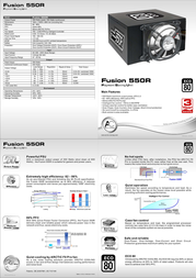 Arctic Cooling Fusion 550R PS-550-06A01 Leaflet