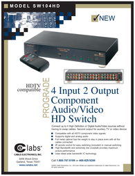 CE labs sw104hd Specification Guide