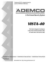 Guardian Technologies Ademco VISTA-40 User Manual