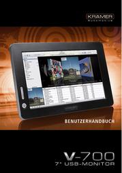 Kraemer Automotive Krämer 7 TFT V700 USB 800 x 480 350 cd/m² 10 ms USB 250 : 1 V700 USB User Manual