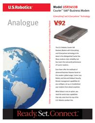 US Robotics Courier 56K V.92 Business Modem USR013453B Leaflet
