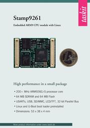 Taskit ARM9 CPU-module with Linux Stamp9261-series Stamp9261 (64F/64R) 542310 Data Sheet
