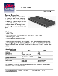 Active Thermal Management The Cool-Stack I 00-301-03 Data Sheet