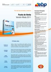 EBP Punto de Venta - Versión Moda 2011 8437009975152 产品宣传页