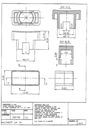 Mec Multimec button cap Black without window Black 1P09 Data Sheet