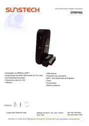 Sunstech DTBP450 Leaflet