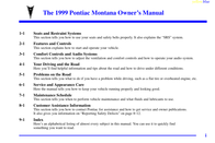 Pontiac montana-1999 User Manual