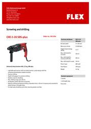 Flex CHE 2-26 SDS-plus 365.904 Leaflet