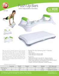 CTA Digital Pushup bar for Wii Fit Balance Board WI-PUB Leaflet