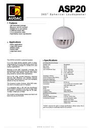 AUDAC ASP20 Leaflet