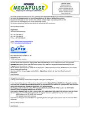 Novitec Megapulse 24 V battery pulser 655000332 Data Sheet