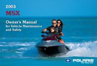 Polaris 2003 MSX User Manual