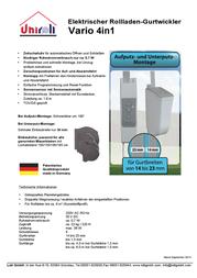Uniroll D-23850 Data Sheet