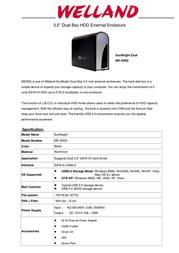 Welland ME-540Q 1025920 Leaflet