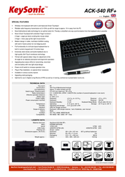 KeySonic ACK-540 RF+ 12760 Leaflet