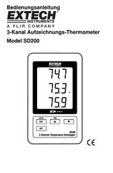 Extech SD200 Temperature Data Logger SD200 Data Sheet