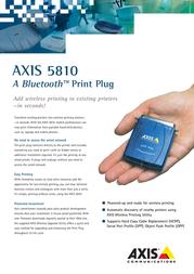 Axis 5810 PRINTER SERVER 0133-002-02 Leaflet