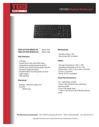 TG3 Electronics CK103S KBA-CK103S-BNUW-US Leaflet