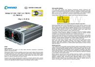EAST CL700-D-12, 1400W Modified Sine Wave Inverter 777-070-12-D-D Data Sheet