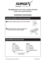 SurgeX SA-1810 Owner's Manual