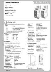 Tele 110202 Time Delay Relay, Timer, 1 CO contact 24 - 240 V DC/AC 110202 Data Sheet