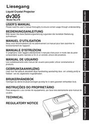 Liesegang Technology Projector dv305 User Manual