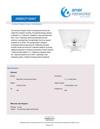 Amer AMRDCP100KIT Leaflet