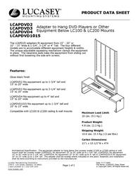 Lucasey LCAPDVD2 Product Datasheet