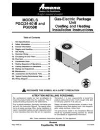 Amana PGB58B User Manual