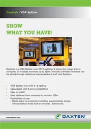 DAXTEN DisplayIt Micro Dual Screen Kit 1025-102K Leaflet