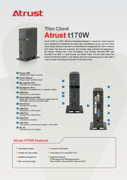 Atrust T170W 01-T1700000-69 Leaflet