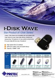 Pretec i-Disk Wave 2GB W2U02G-W Leaflet