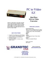 GrandTec PC-to-Video EZ GEZ-1000 Leaflet